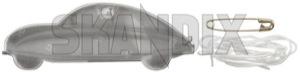 Reflektor-Anhänger Ursaab silber  (1068327) - Saab universal - anhaenger katzenaugen reflektor anhaenger ursaab silber reflektoranhaenger ursaab silber rueckstrahler Hausmarke 4 4cm 9 9cm cm saab silber silberner ursaab