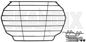 Cargo divider grill 31470448 (1070085) - Volvo XC90 (2016-) - boot grill cargo barrier cargo divider grill dog guard load compartment divider loadrestraint mesh load restraint mesh protective steel grill trunk Genuine charcoal