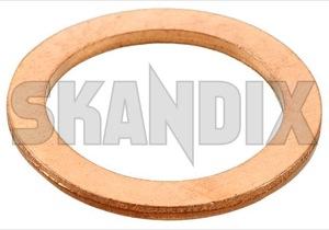 Seal ring, Oil drain plug 11994 (1071195) - Volvo P445, PV - gasket seal ring oil drain plug Own-label copper