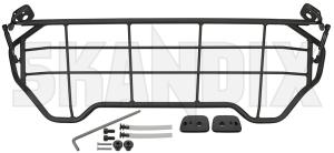Cargo divider grill 32261313 (1071509) - Volvo XC40 - boot grill cargo barrier cargo divider grill dog guard load compartment divider loadrestraint mesh load restraint mesh protective steel grill trunk Genuine black charcoal