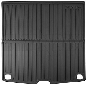 Trunk mat Synthetic material charcoal solid 31659465 (1072668) - Volvo V60 (2019-), V60 XC (19-) - trunk mat synthetic material charcoal solid Genuine bowl charcoal high mat material plastic solid synthetic