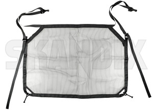 Trunk safety net Nylon charcoal 31407916 (1073203) - Volvo XC40 - bootloadernets boots cargonets compartment nets divider nets interior nets luggagenets partition nets protective nets trunk safety net nylon charcoal Genuine charcoal nylon