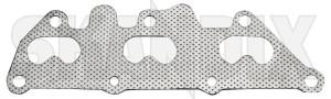 Gasket, Exhaust manifold 9128515 (1074912) - Saab 9-5 (-2010) - gasket exhaust manifold seal skandix      1,3,5 135 1 3 5 cylinder cylinderhead exhaust manifold