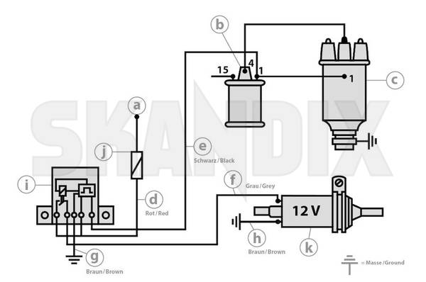 skandix - technical hints: wiring kit, safety shutdown for electric fuel  pump, 12 v  skandix