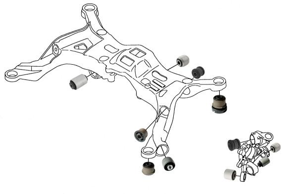 Volvo V70 P26, S60 (-2009): rear wheel suspension