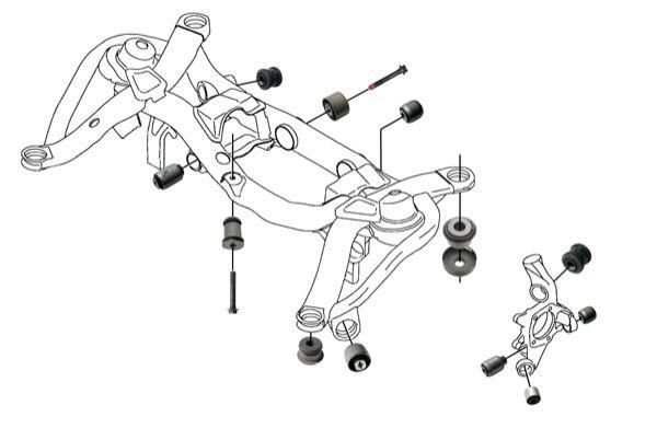 Volvo XC90 (-2014): rear wheel suspension