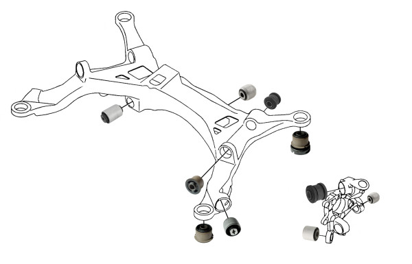 Volvo V70 P26: rear wheel suspension
