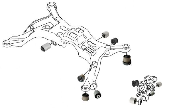 Volvo S60 (-2009), V70 P26: rear wheel suspension