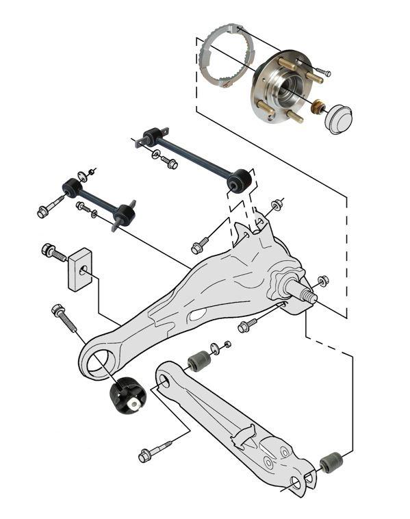 Volvo V40 (-2004): rear wheel suspension