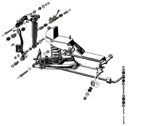 Volvo PV: front axle