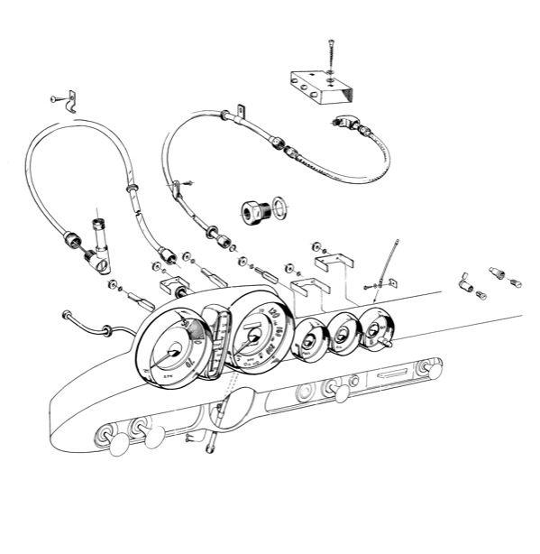 Volvo P1800: Dashboard instruments