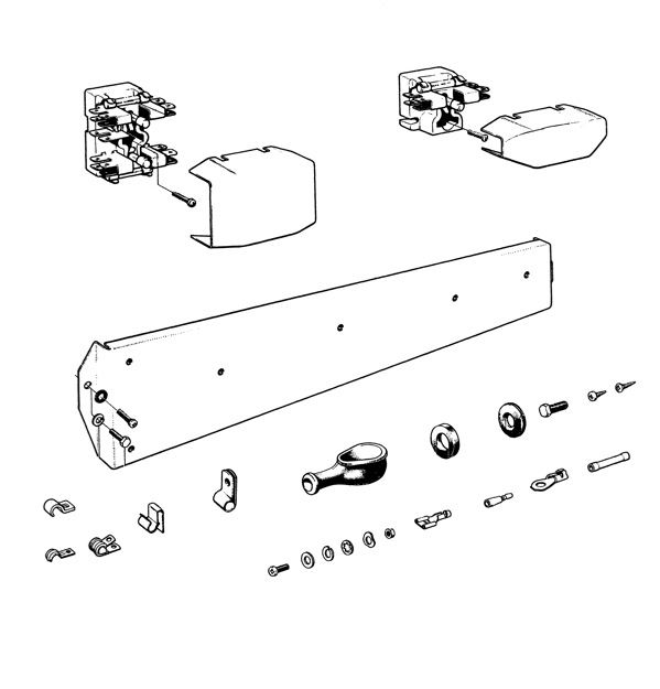 Volvo P1800: Fuse box, clip, grommet, contact pin