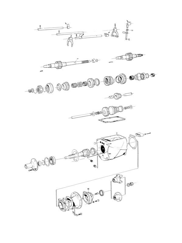 Volvo P1800, P1800ES: Manual transmission