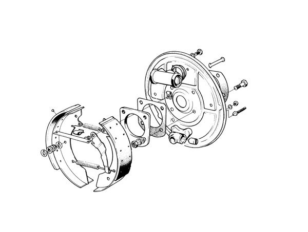 Volvo P1800: Brake rear (single circuit)