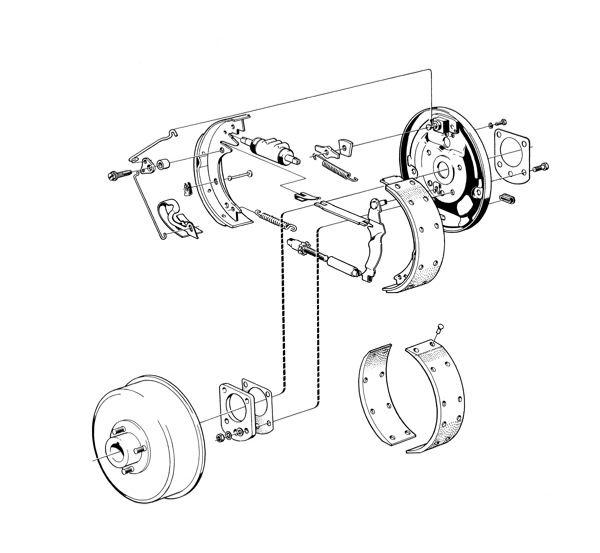 Volvo P1800: Brake rear (split circuit)