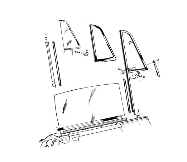 VOLVO P1800 BODY TRIM CLIPS KIT FOR CHASSIS UP TO 9999