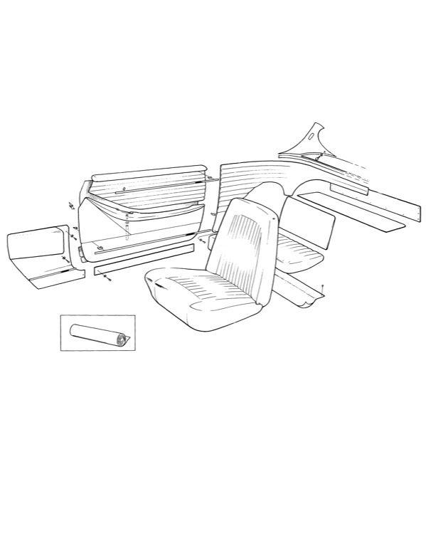 Volvo P1800: Innenausstattung, Inneneinrichtungscode 301-306
