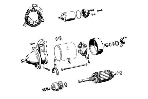 Volvo 120 130 220, 140, 164, P1800, P1800ES, PV P210: Anlasser 1001718 (späte Ausführung)