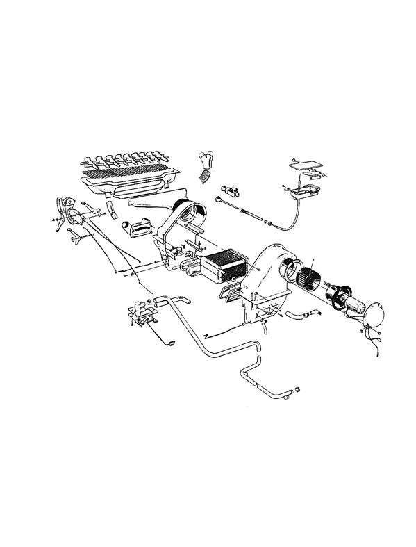 Volvo P1800: Heater unit