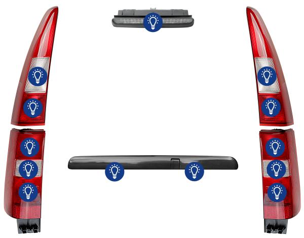 Volvo V70 (-2000): Overview rear lamps