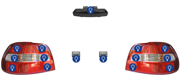Volvo S40 (-2004): Overview rear lamps