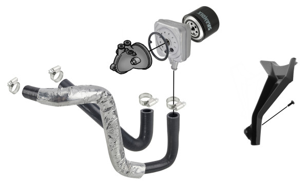 Volvo 850, S70 V70 (-2000), S80 (-2006), V70 P26, XC70 (2001-2007): oil cooling diesel