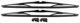 Wiper blade for Windscreen black Kit for both sides 274386 (1000759) - Volvo 140, 164, 200