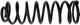 Fahrwerksfeder Hinterachse verstärkt  (1000945) - Volvo 140, 200
