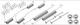 Accessory kit, Brake shoes  (1002872) - Saab 95, 96, Sonett II, Sonett III, Sonett V4
