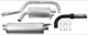 Sports silencer set from Catalytic converter  (1003849) - Volvo 200