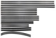 Window channel guide front rear Kit for both sides  (1006634) - Volvo 120 130, 220