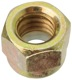 Lock nut with plastic-insert with UNC inch Thread 3/8
