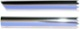 Drip rail moulding left front Section 659994 (1008297) - Volvo 120 130 220