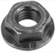 Nut with Collar with metric Thread M6 Zinc-coated Visco clutch 985919 (1009915) - Volvo 200, 700, 900, universal ohne Classic