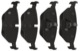 Bremsbelagsatz Hinterachse 5058110 (1013315) - Saab 9-5 (-2010)