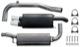 Sports silencer set  (1014866) - Volvo S40 V40 (-2004)