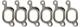Gasket, Exhaust manifold Kit 272395 (1015863) - Volvo S80 (-2006), XC90 (-2014)