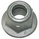 Lock nut with plastic-insert with Collar with metric Thread M10 987891 (1016678) - Volvo 850, universal