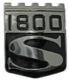 Emblem Heckblech 670241 (1018230) - Volvo P1800