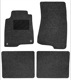Floor accessory mats Needle felt black-grey  (1019097) - Volvo 200