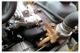 Unterlegscheibe, Stehbolzen Abgaskrümmer mit Aufnahme für Rückzugsfeder, Vergaser