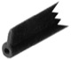 Fender strip, Sunroof 1255335 (1022785) - Volvo 140, 164, 200