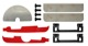 Montagesatz Spoiler, Kofferraumklappe 1399234 (1023771) - Volvo 850