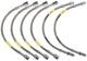 Brake hose Front axle Rear axle Kit 6 Pcs  (1024006) - Volvo 200