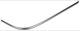 Trim moulding, Bumper front right chromed 1254503 (1026966) - Volvo 200