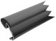 Drip rail moulding left rear Section 1312730 (1026985) - Volvo 200