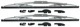 Wiper blade for Windscreen silver Kit for both sides  (1027390) - Volvo 140, 164, 200