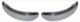 Stoßstange hinten Edelstahl poliert Satz  (1029393) - Volvo P445 P210