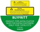 Information sign BLYFRITT Only for Catalysts Petrol can  (1032858) - Volvo universal