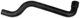 Radiator hose upper 3453992 (1032883) - Volvo 400